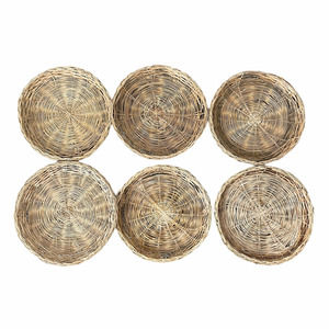 Straw Baskets Plate Holders Wall Decor 6 Pack